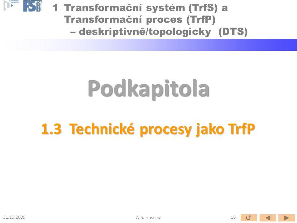1.3 Technické procesy jako TrfP