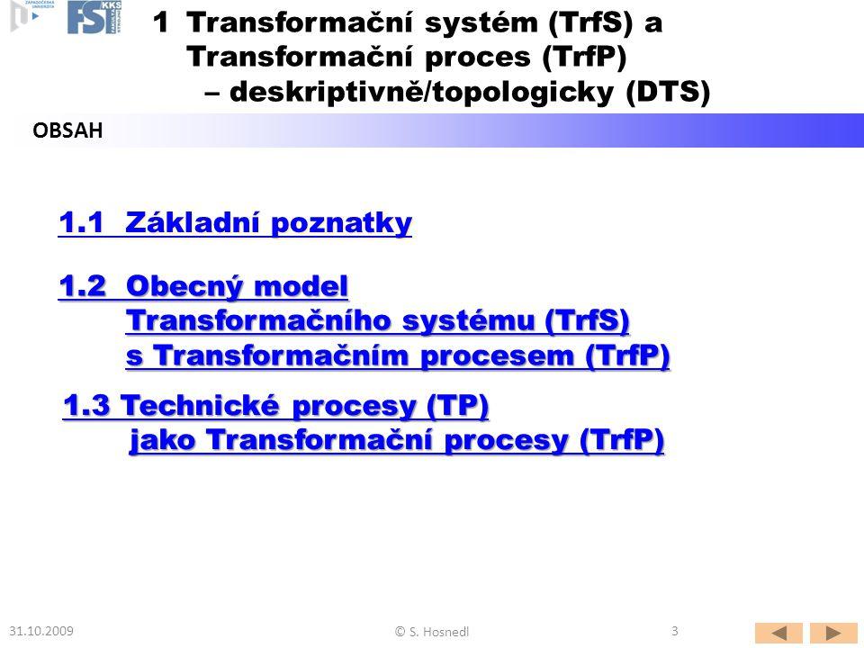 Transformační systém (TrfS) a Transformační proces (TrfP)