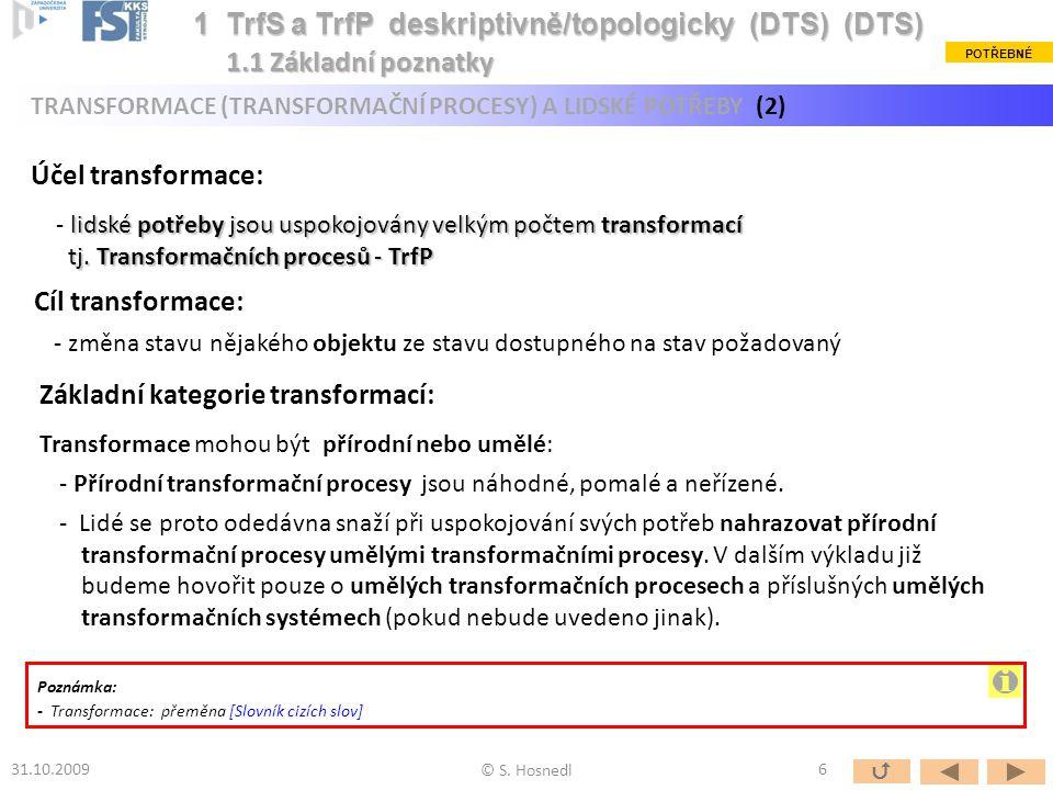i 1 TrfS a TrfP deskriptivně/topologicky (DTS) (DTS)
