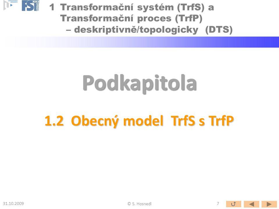 1.2 Obecný model TrfS s TrfP