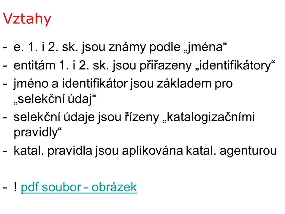 """Vztahy e. 1. i 2. sk. jsou známy podle """"jména"""