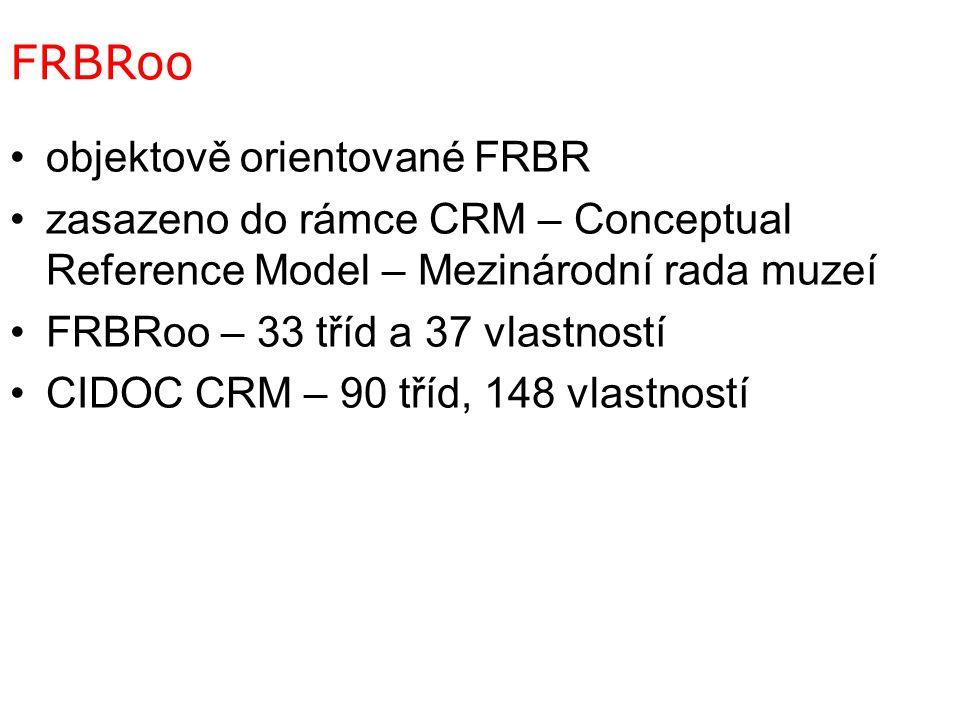 FRBRoo objektově orientované FRBR