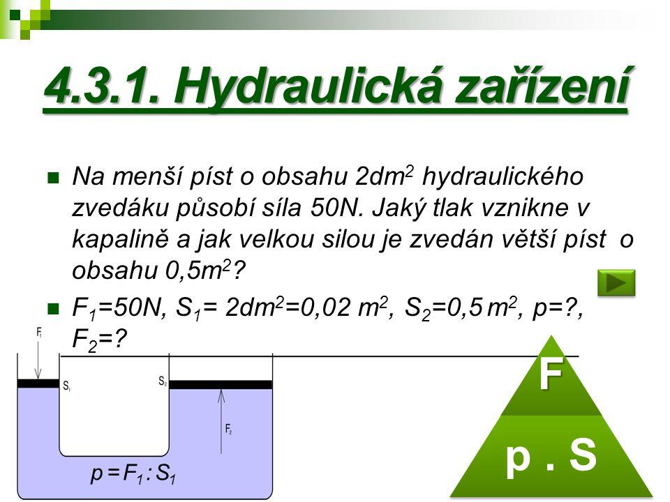 4.3.1. Hydraulická zařízení p . S F
