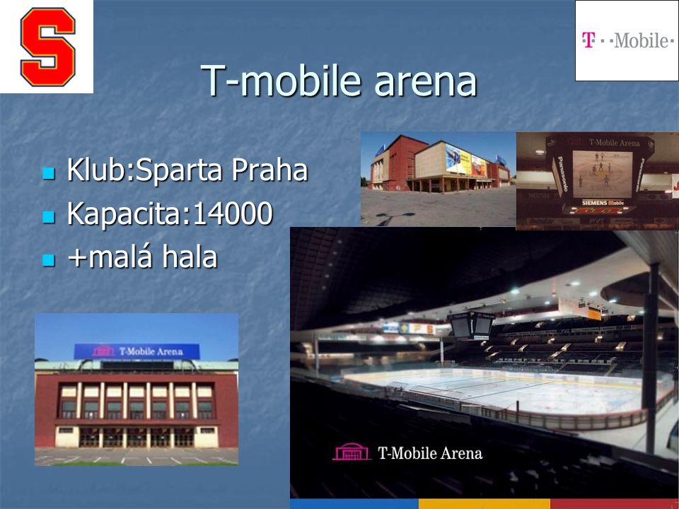 T-mobile arena Klub:Sparta Praha Kapacita:14000 +malá hala