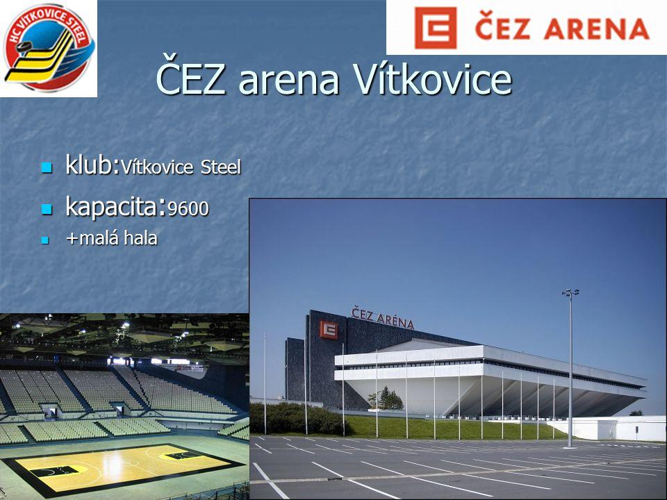 ČEZ arena Vítkovice klub:Vítkovice Steel kapacita:9600 +malá hala