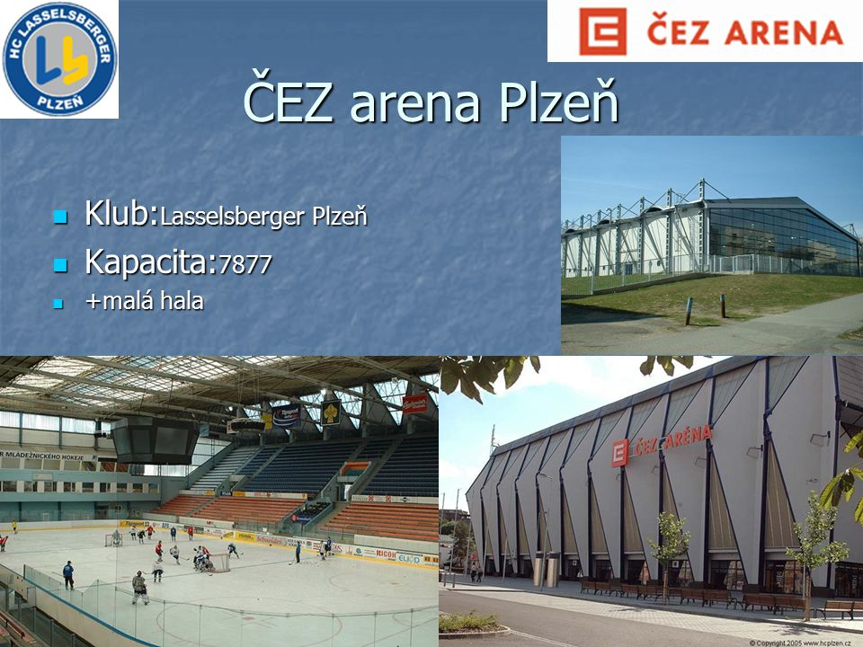 ČEZ arena Plzeň Klub:Lasselsberger Plzeň Kapacita:7877 +malá hala