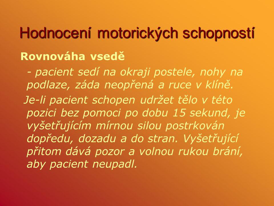 Hodnocení motorických schopností