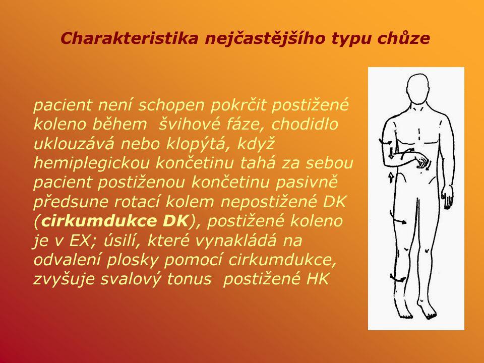 Charakteristika nejčastějšího typu chůze