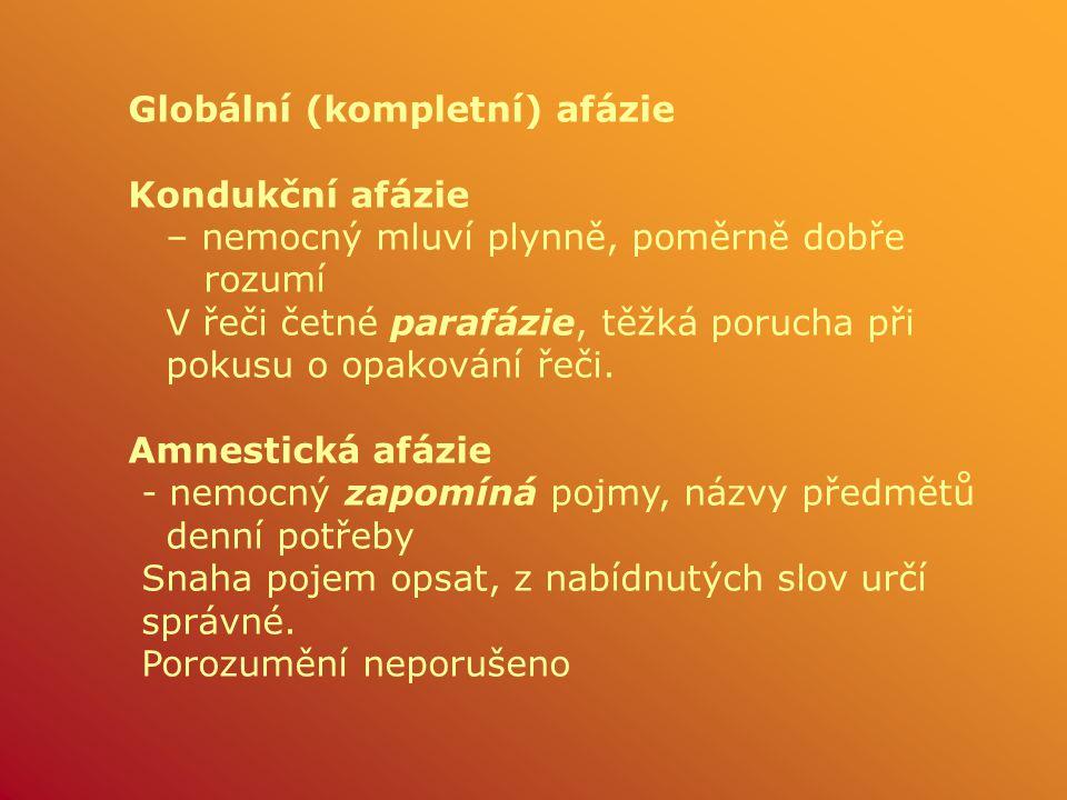 Globální (kompletní) afázie