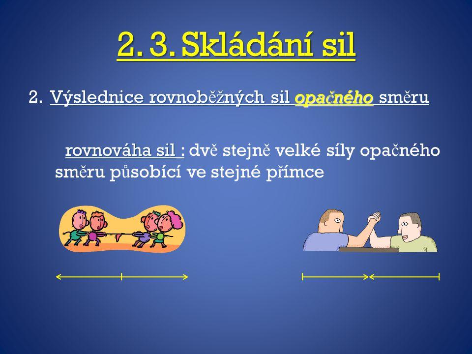 2. 3. Skládání sil 2.