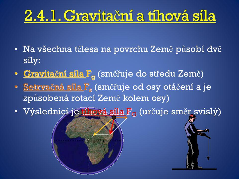 2.4.1. Gravitační a tíhová síla