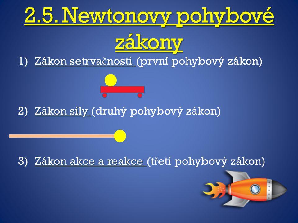 2.5. Newtonovy pohybové zákony