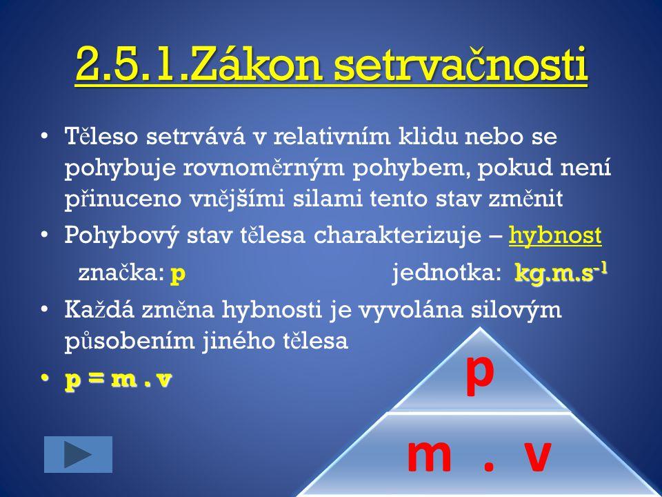 2.5.1.Zákon setrvačnosti