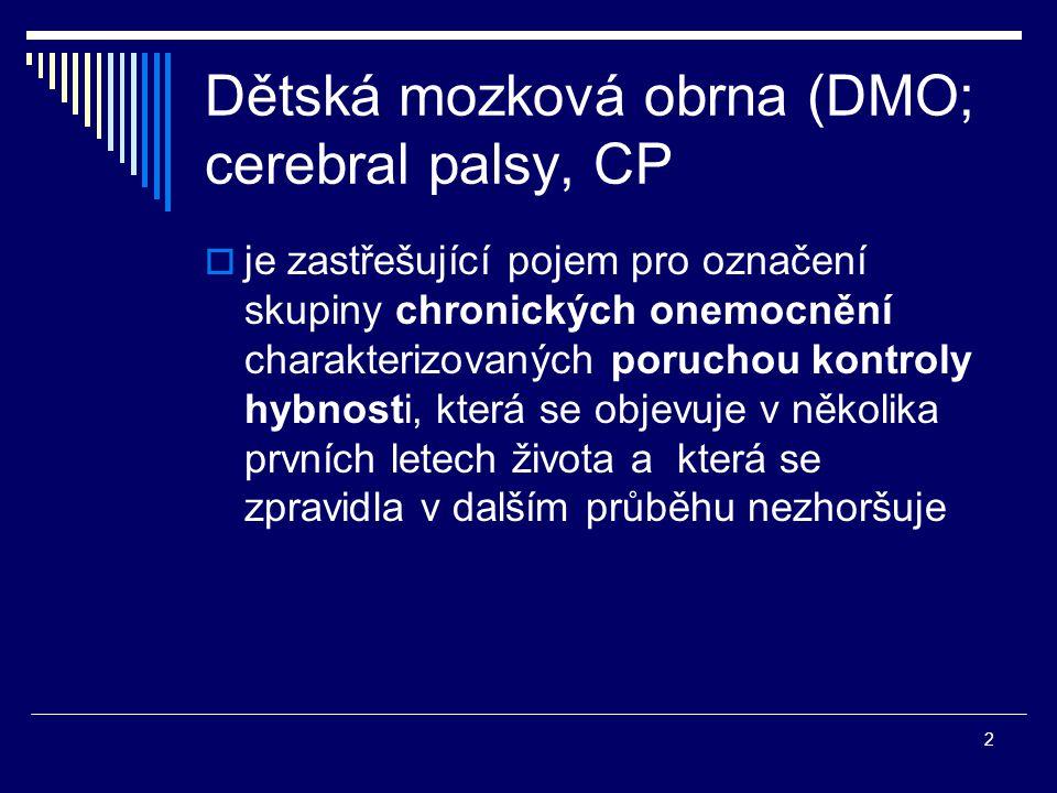 Dětská mozková obrna (DMO; cerebral palsy, CP