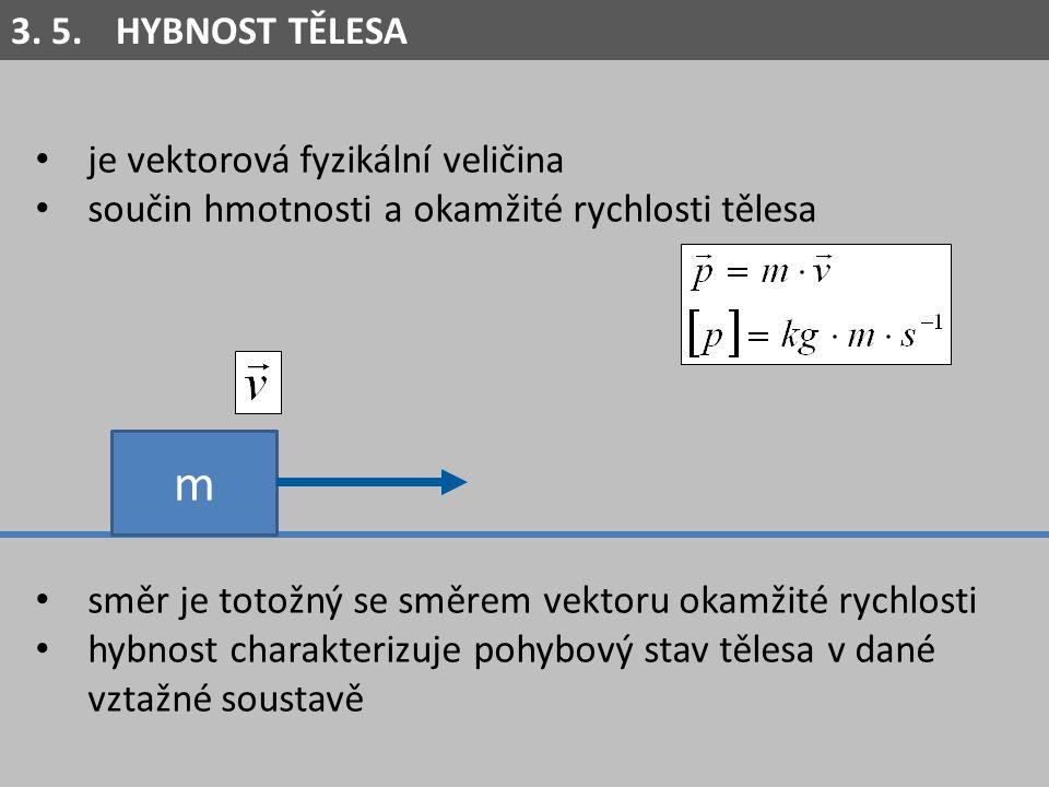 m 3. 5. HYBNOST TĚLESA je vektorová fyzikální veličina