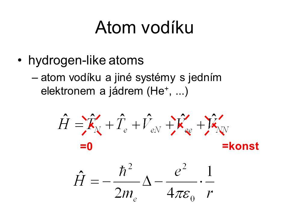 Atom vodíku hydrogen-like atoms