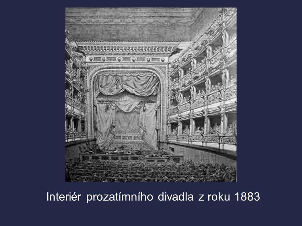 Interiér prozatímního divadla z roku 1883