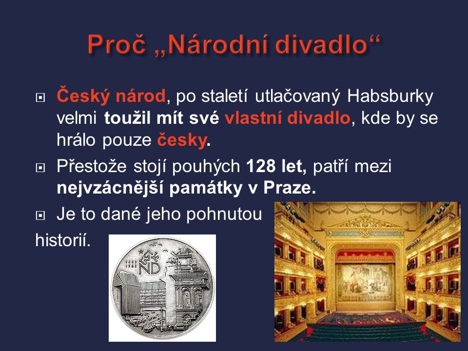 """Proč """"Národní divadlo"""