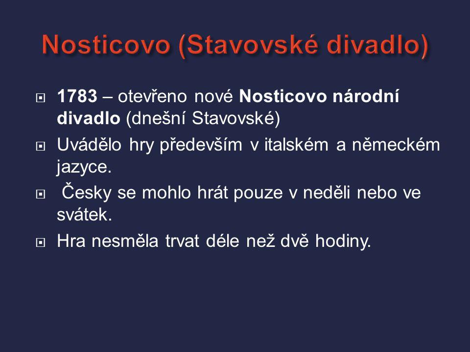 Nosticovo (Stavovské divadlo)