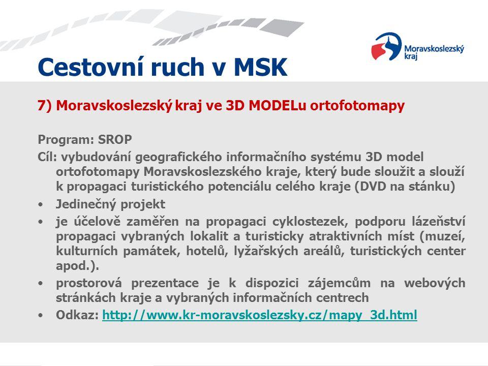 7) Moravskoslezský kraj ve 3D MODELu ortofotomapy