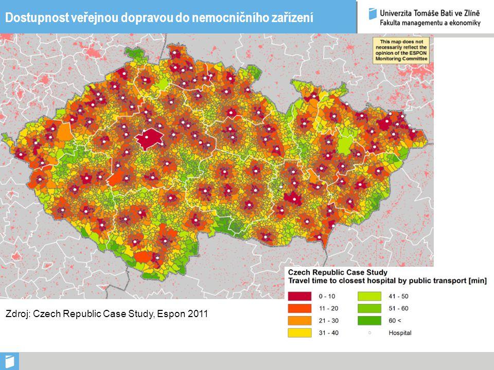 Dostupnost veřejnou dopravou do nemocničního zařízení