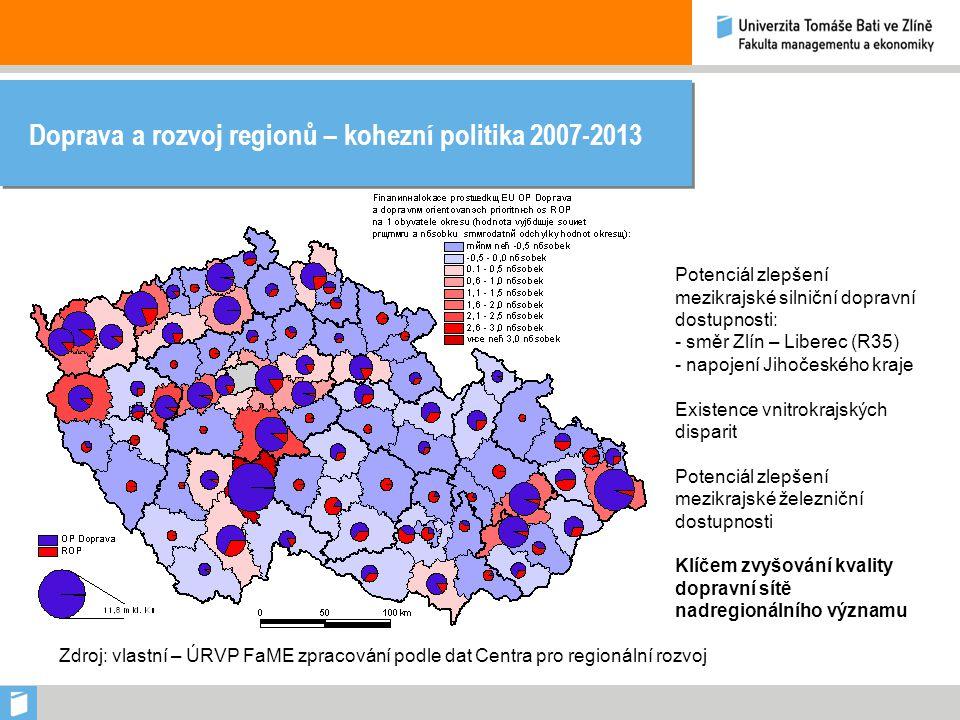 Doprava a rozvoj regionů – kohezní politika 2007-2013