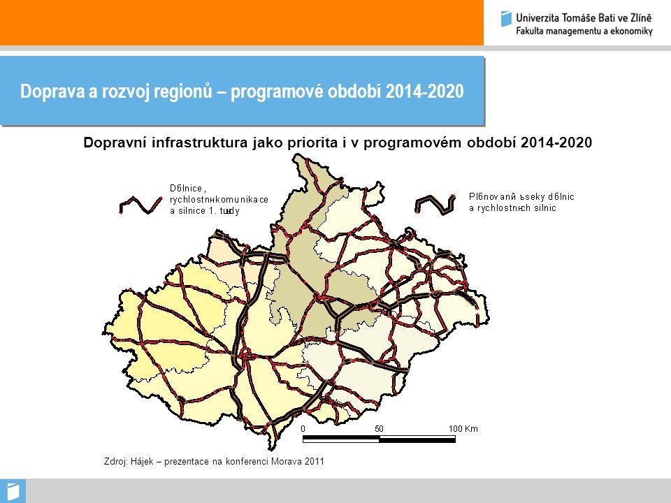 Doprava a rozvoj regionů – programové období 2014-2020