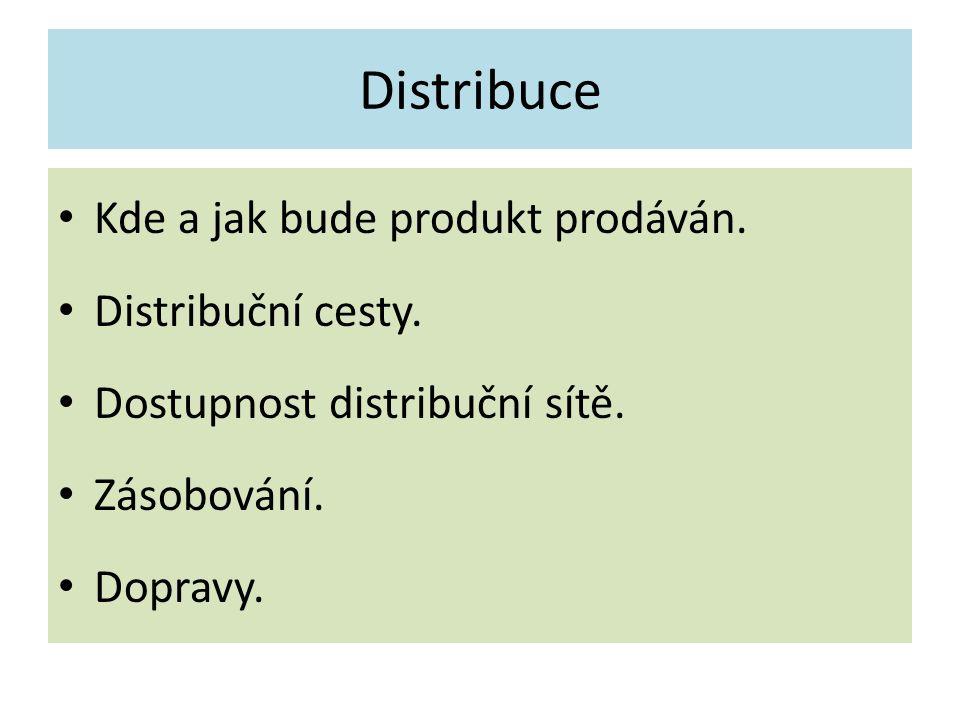 Distribuce Kde a jak bude produkt prodáván. Distribuční cesty.