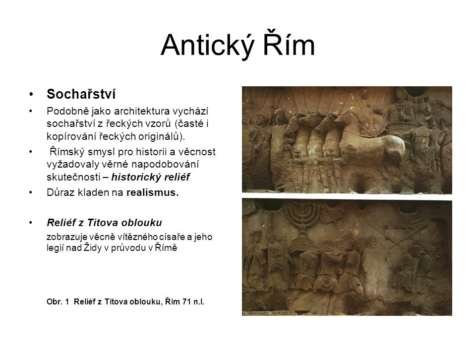Antický Řím Sochařství
