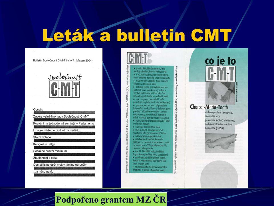 Podpořeno grantem MZ ČR