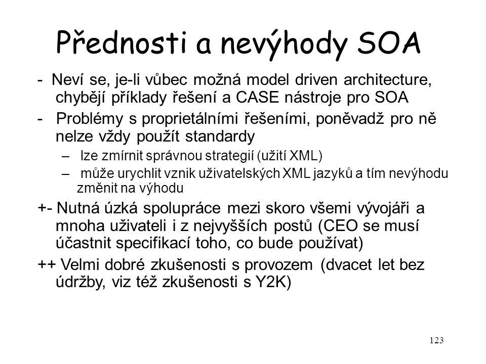 Přednosti a nevýhody SOA