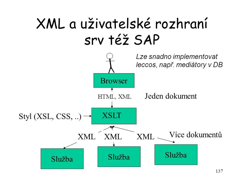XML a uživatelské rozhraní srv též SAP