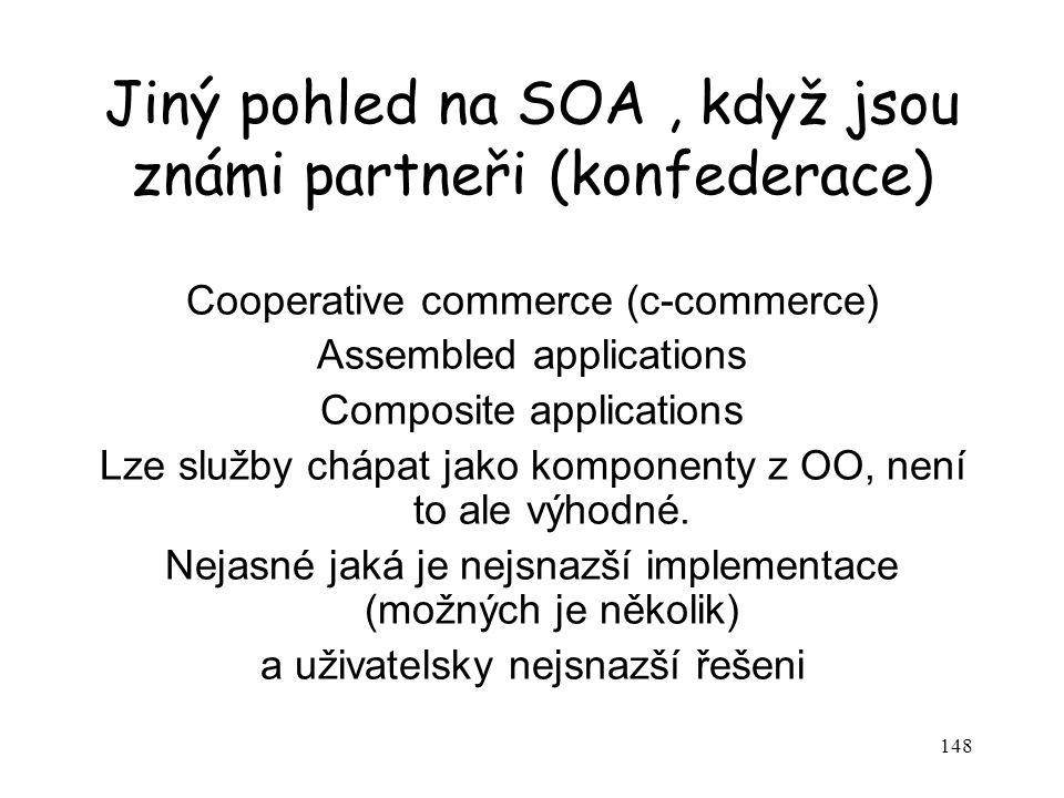 Jiný pohled na SOA , když jsou známi partneři (konfederace)
