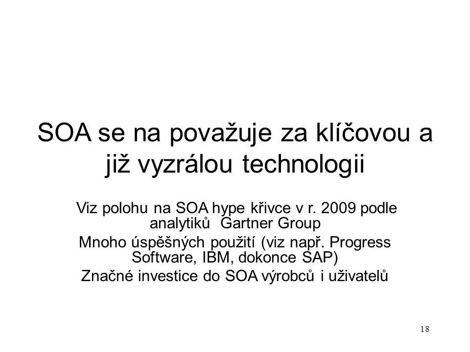 SOA se na považuje za klíčovou a již vyzrálou technologii