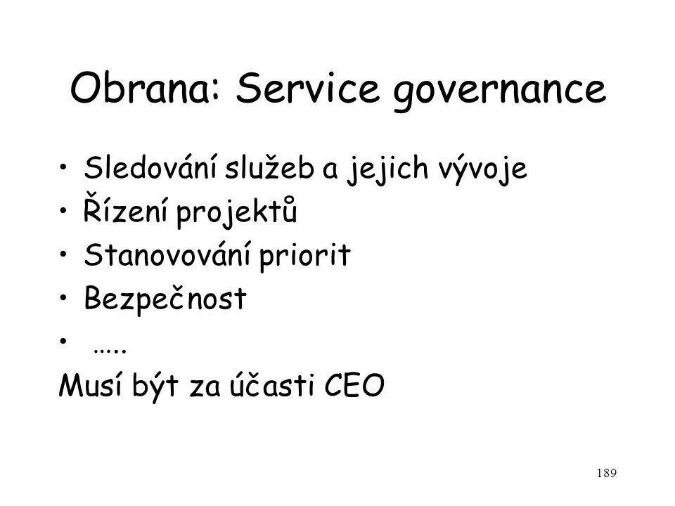 Obrana: Service governance
