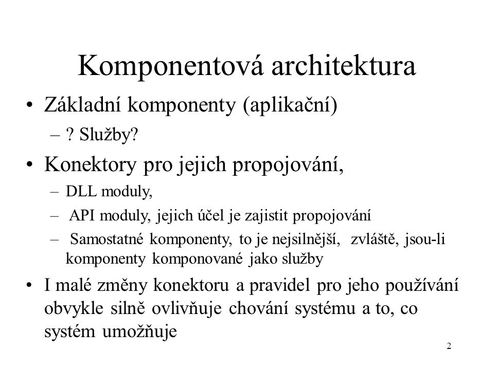 Komponentová architektura