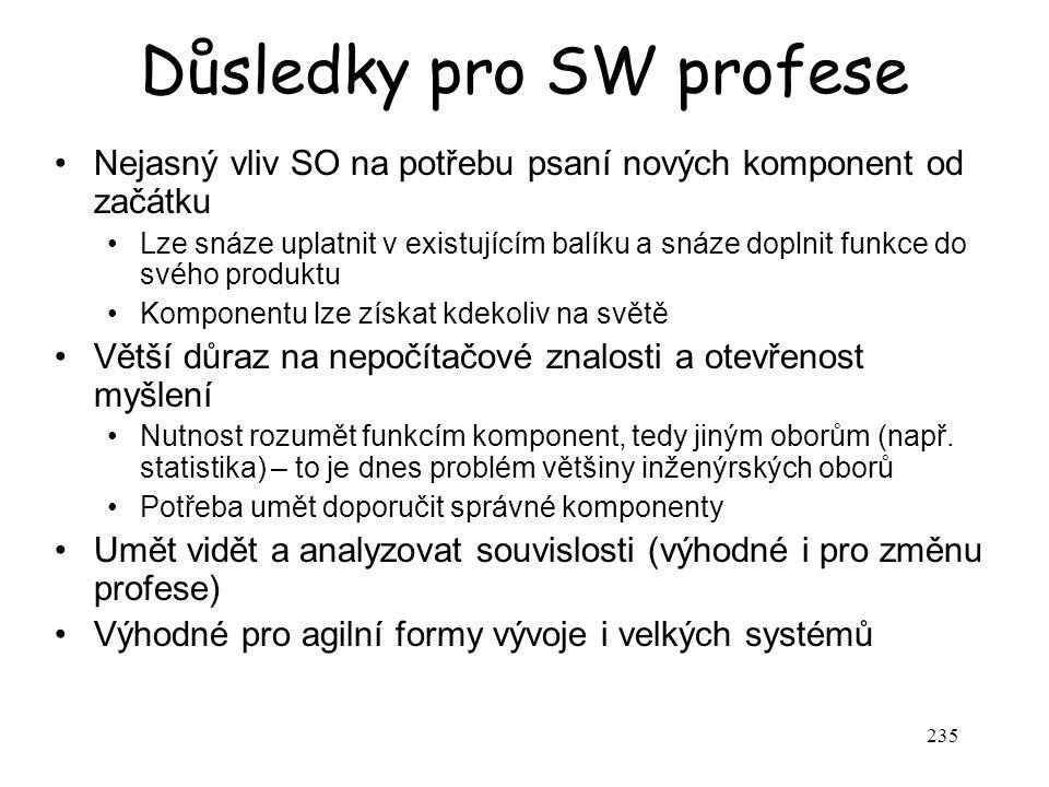 Důsledky pro SW profese