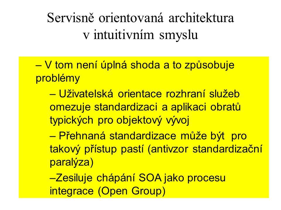 Servisně orientovaná architektura v intuitivním smyslu