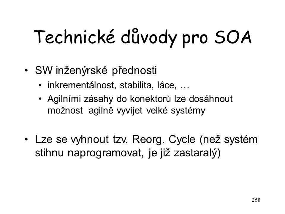 Technické důvody pro SOA