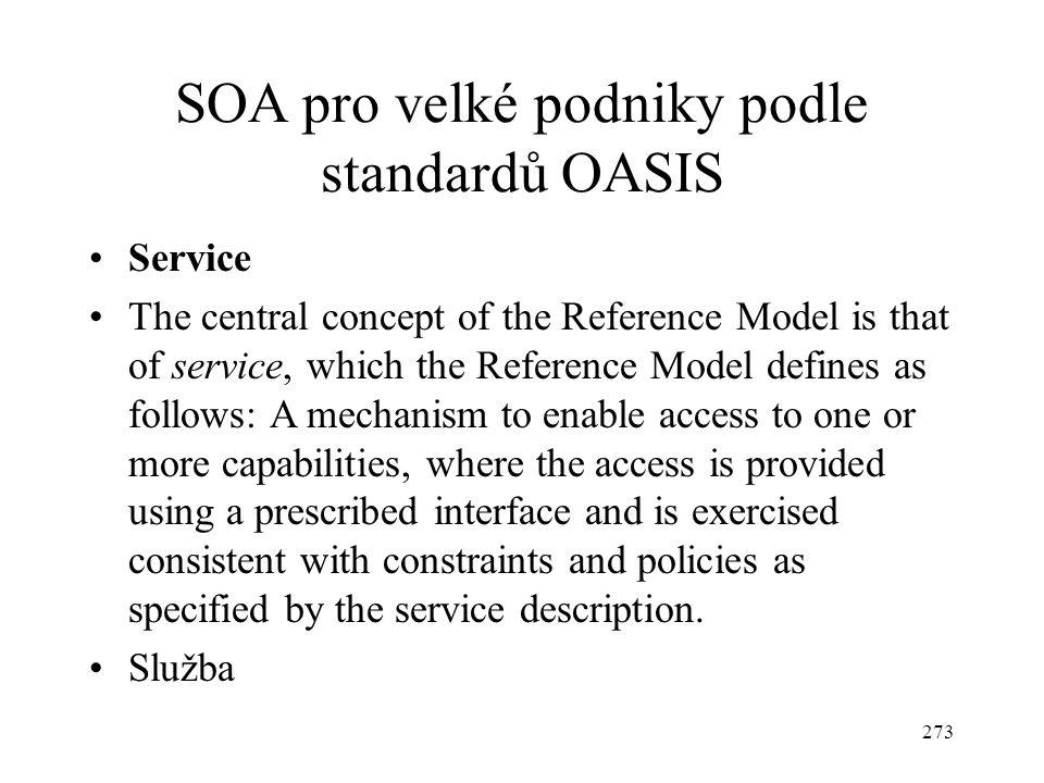 SOA pro velké podniky podle standardů OASIS
