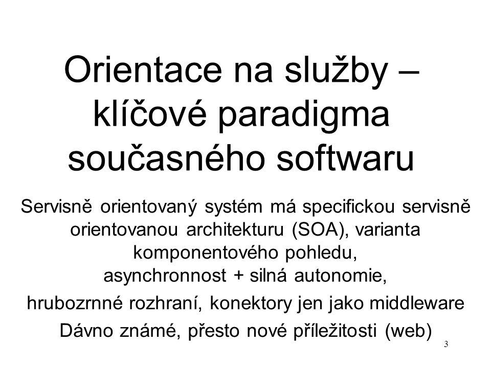 Orientace na služby – klíčové paradigma současného softwaru