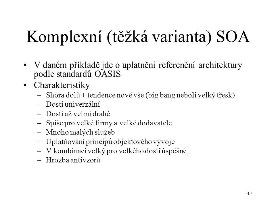 Komplexní (těžká varianta) SOA