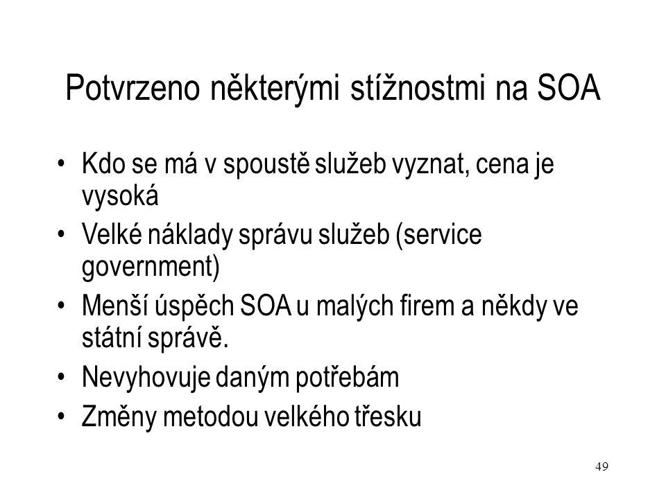 Potvrzeno některými stížnostmi na SOA