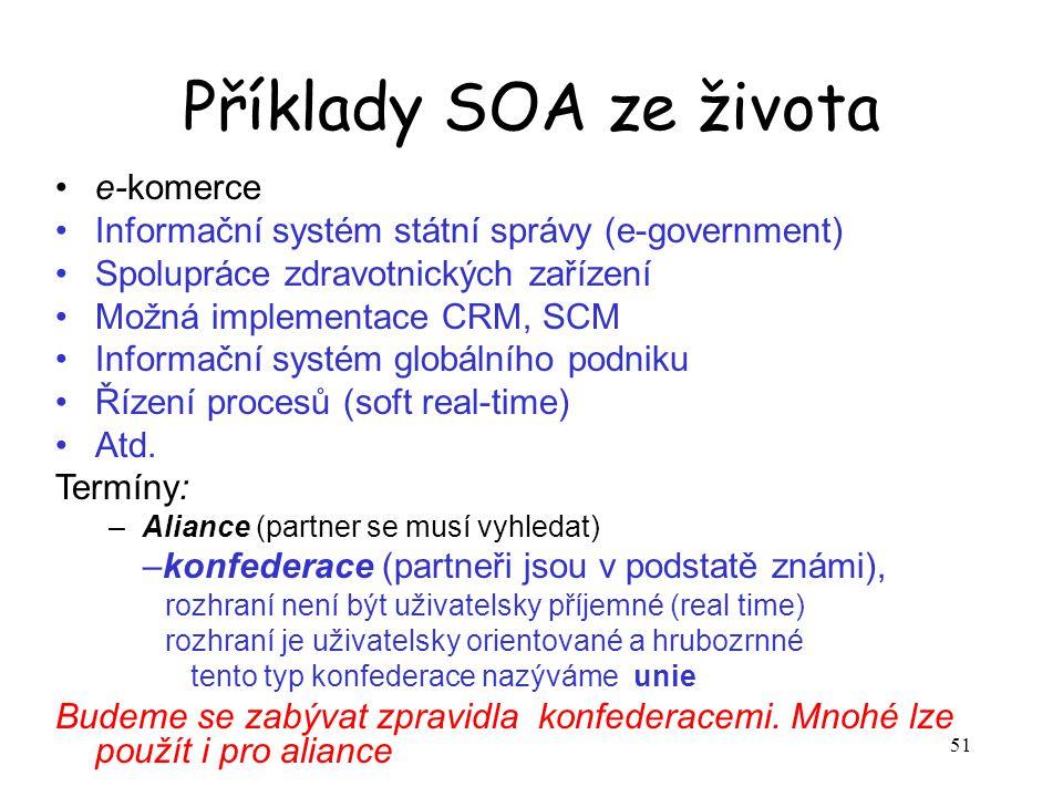 Příklady SOA ze života e-komerce