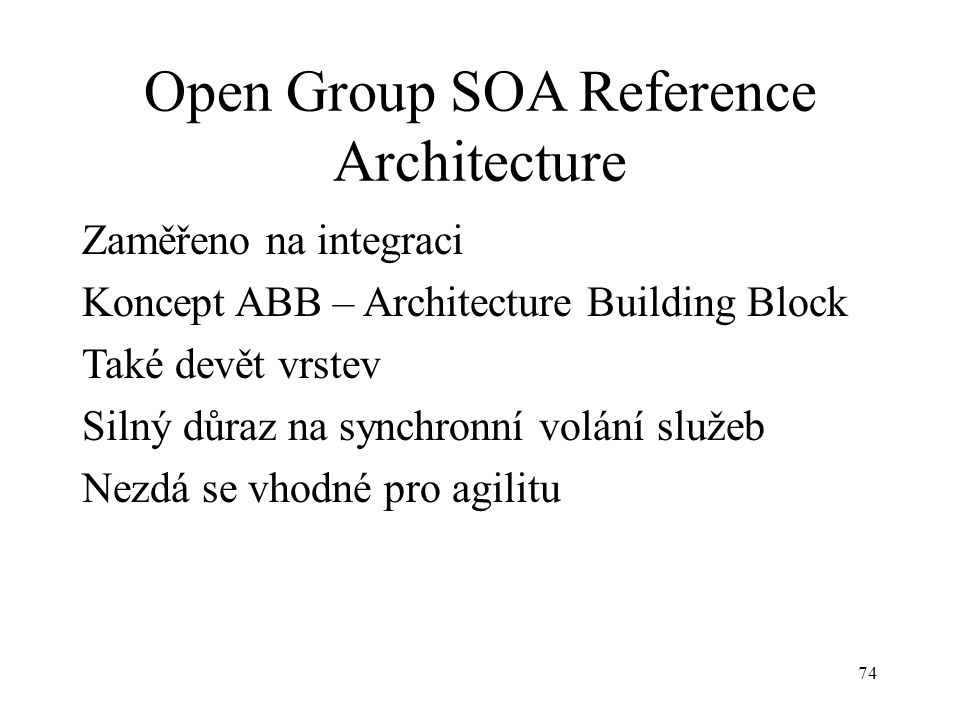 Open Group SOA Reference Architecture