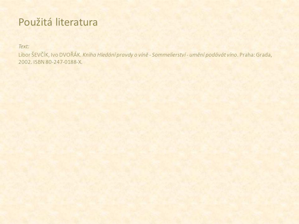 Použitá literatura Text: