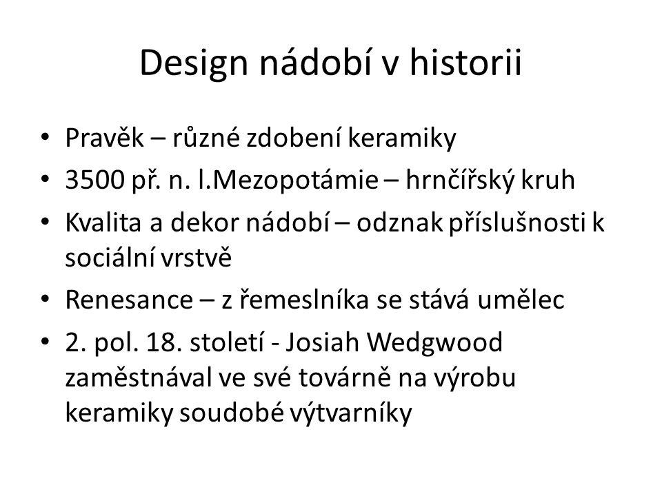 Design nádobí v historii