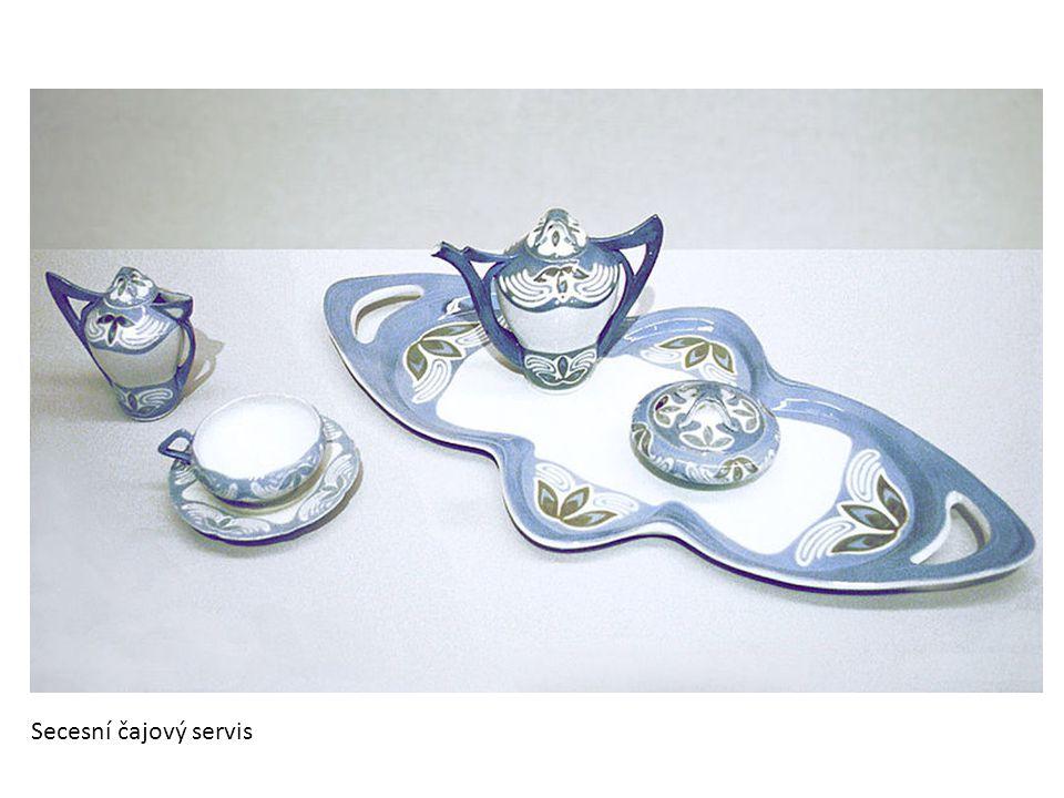 Secesní čajový servis