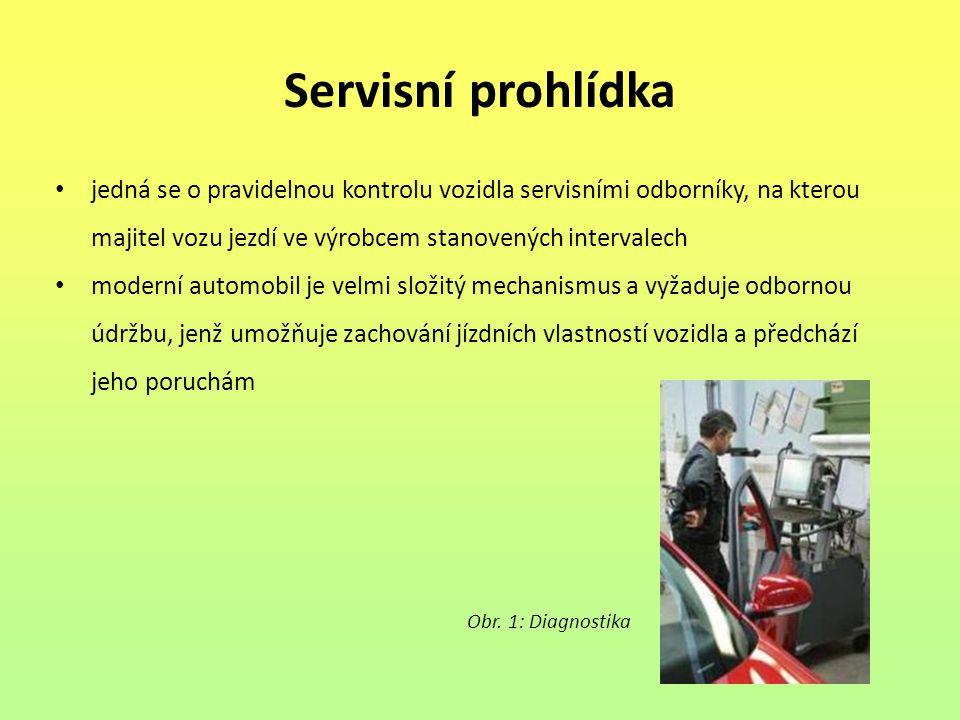 Servisní prohlídka jedná se o pravidelnou kontrolu vozidla servisními odborníky, na kterou majitel vozu jezdí ve výrobcem stanovených intervalech.