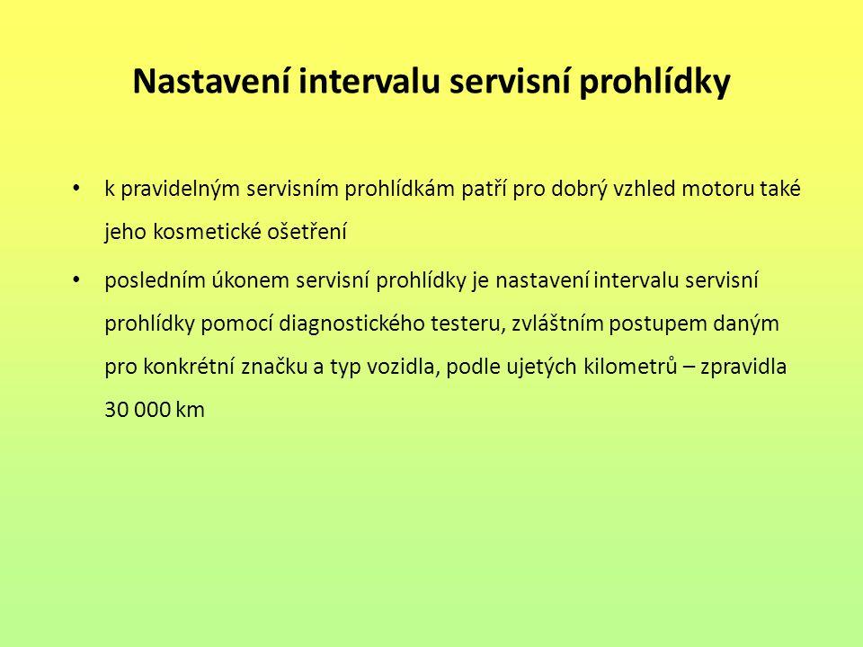 Nastavení intervalu servisní prohlídky